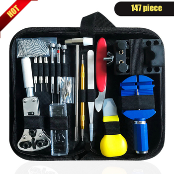 147pcs/set  Watch Repair Tool Kit Case Opener Link Remover Screwdriver Tools Watchmaker - discount item  40% OFF Watches Accessories