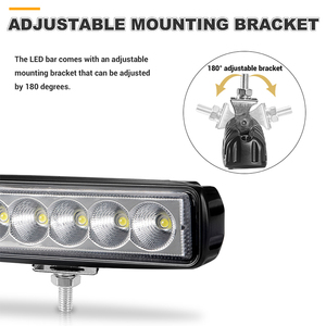 Image 4 - 6 inch 18W Offroad DRL LED Work Light Flood Beam Spotlight 12V 24V Daytime Running Light For Jeep 4x4 ATV 4WD SUV Car Styling