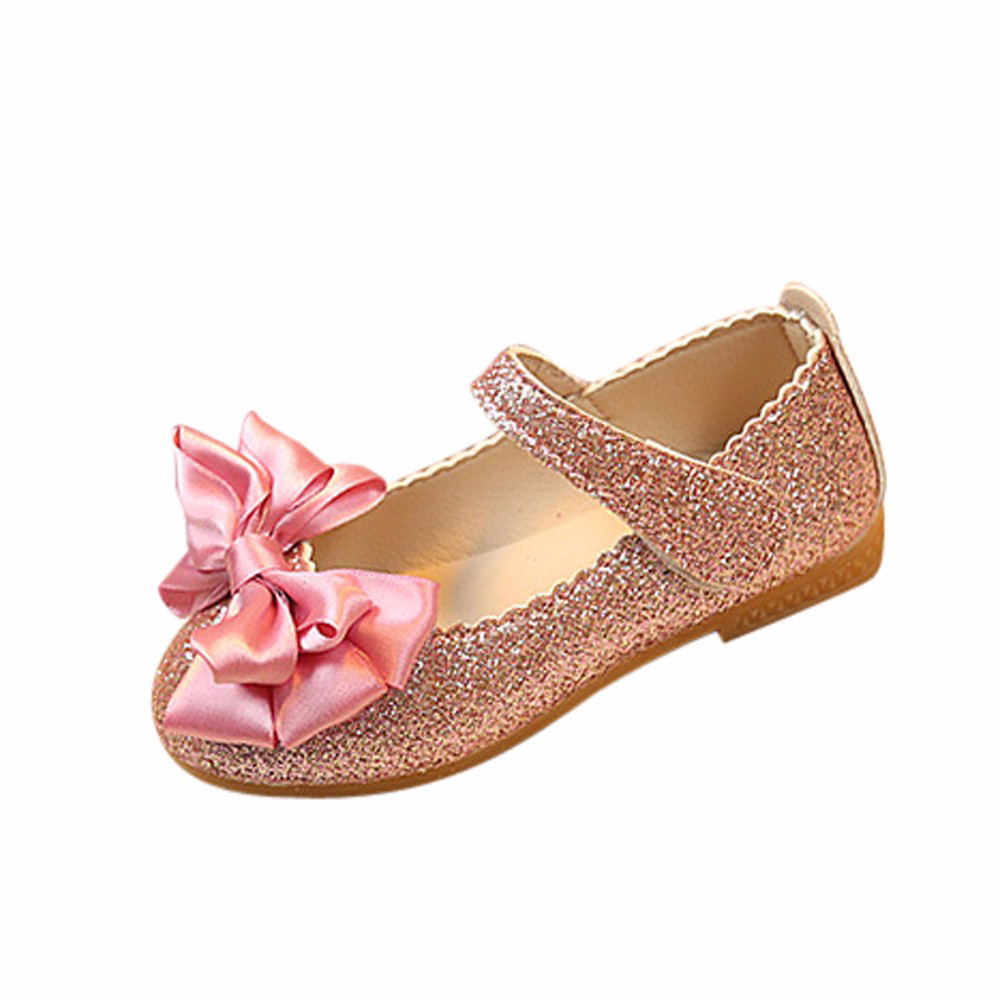 Girls Bridesmaids Party Shoes Flower Band Leather Dress Shoes Child Sizes UK 6-9