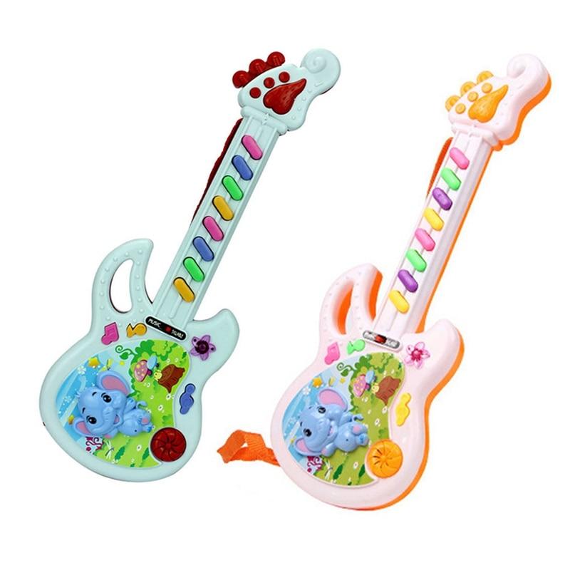 1 Piece Musical Educational Toy Baby Kids Children Portable Elephant Guitar Keyboard Developmental Cute Toy Color Random