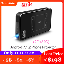 Smartldea T18 (2G + 32G) android 7.1.2 Smart Projector Mini Dlp Projector Ondersteuning AC3 Hd 1080P Video Beamer Bluetooth Airplay Dlna