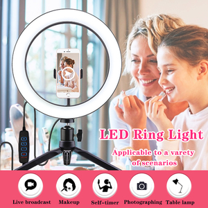 Image 2 - Orsda 26cm/10inch Ring Light LED Selfie Lamp Studio Photography Photo RingLight Makeup For Live Tube Fill with Tripod Youtube
