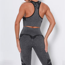 Бесшовные спортивные костюмы женская спортивная одежда набор