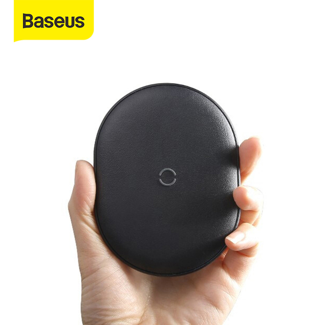 Baseus 15ワットチーワイヤレス充電器iphone 11プロ急速充電ポータブル高速ワイヤレス電話の充電器airpods xiaomi huawei社