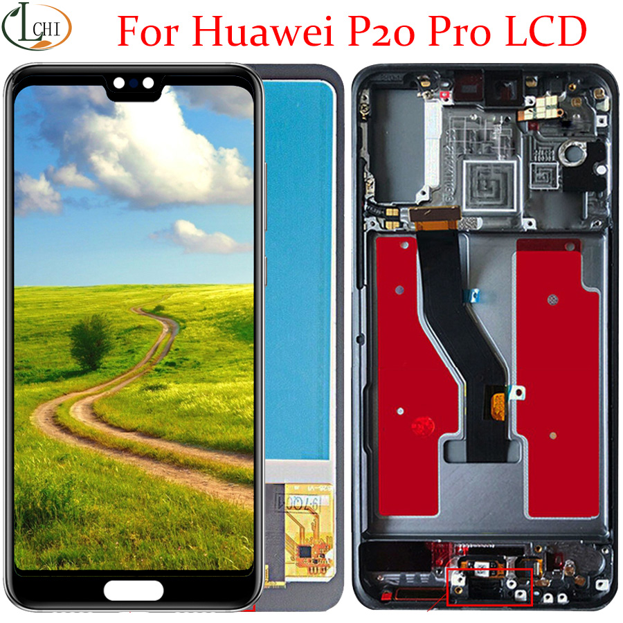 TFT Display For Huawei P20 Pro LCD Display Screen Touch Digitizer Assembly Lcd P20 Pro With Frame For Huawei P20 Pro Lcd