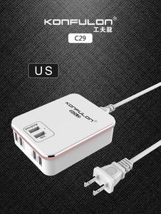 Image 2 - 6USB Mobile Ladegerät Schnell Ladegerät QC 3,0 EU UNS UK stecker multi USB Telefon Ladegerät Schnell Ladegerät 3,0 Für Mobile IPhone12 Ipad C29