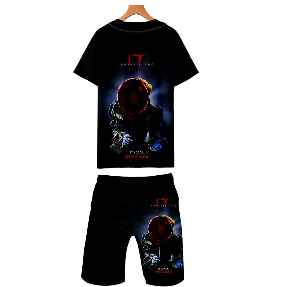 Hot Sales It-Chapter 2 Digital Printing 3D Men's Thin Baseball Uniform Shorts Set