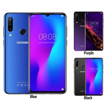 Купить Смартфон Doogee N20 4G, 6,3-дюймовый экран Waterdrop, мобильный телефон, 4 Гб + 64 ГБ, Восьмиядерный, тройная задняя камера 16 Мп, 4350 мАч, 10 Вт, быстрая зарядка