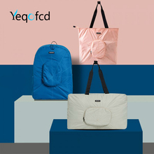 Yeqofcd Luggage Handbag Men Large Capacity Foldable Weekend Bag Travel Women Waterproof Clothing Organizer Duffle Bags Unisex