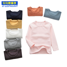 Solid stretch Long Jon Baby Winter Cotton children's thermal underwear O Neck to