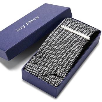 Classic Hanky Tie Clips Cufflinks Neckties Set  Stripe 7.5cm Silk  Skinny Floral Necktie Formal Dress Accessories ties for men floral embroidered tie detail stripe dress