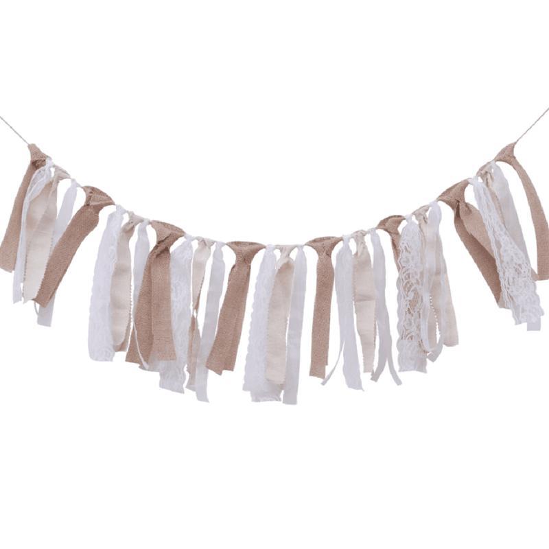 Флаг-баннер, Вымпел, гирлянда из ткани, рустикальные флаги, тканевое украшение в стиле «потертый шик» для спальни, дней рождения, свадеб