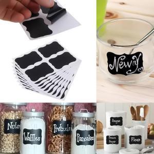36pcs Chalkboard Blackboard Chalk Board Stickers Craft Kitchen Jar Labels new