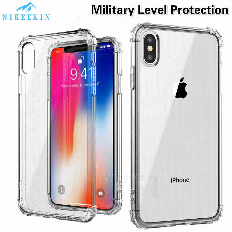 Zware Bescherming Telefoon Case Voor Iphone 11 Pro Max Ultra Thin Clear Soft Cover Voor Iphone 6S 7 8 Plus Xr Iphone Xs Max Case