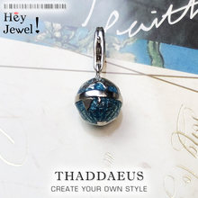 2019 Fashion 925 Sterling Silver Globe World Map Pendant Charm For Women Men Graduation Personality Statement Jewelry Wholesale