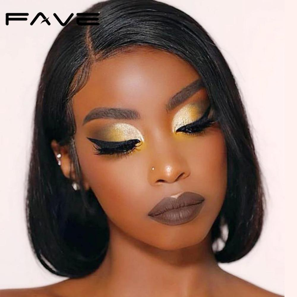 FAVE Human Hair Wigs Brazilian Straight Hair Wig With Baby Hair For Black Women Remy 150% Density Glueless Full Lace Wig