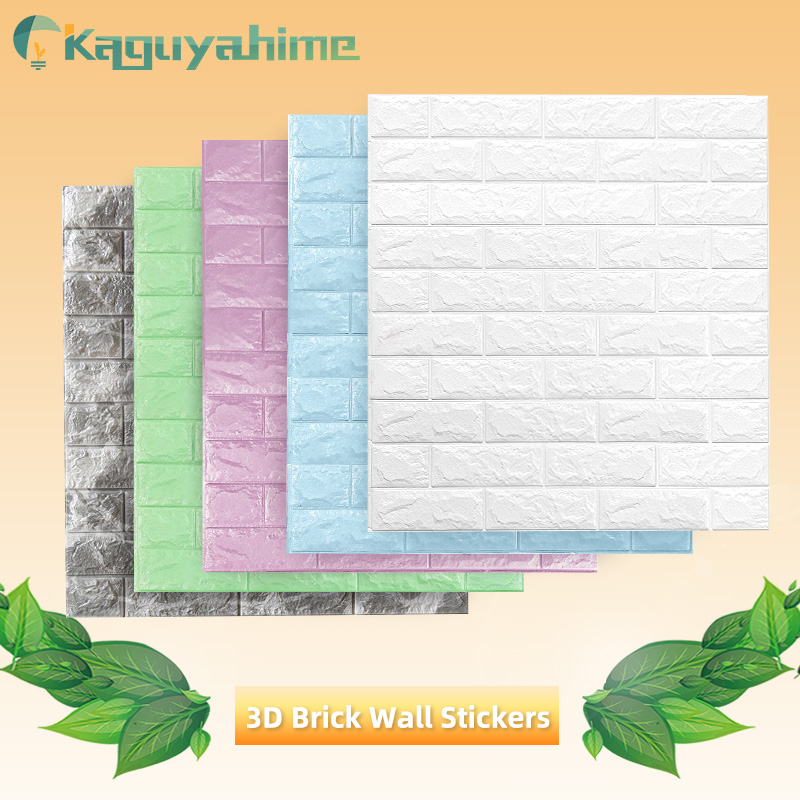 3D Self-Adhesive Wall Paper Marble Brick Peel Waterproof Wallpaper Decorative Wall Sticker Kitchen Bathroom 3D Wall Stickers