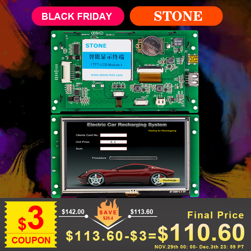 """5"""" TFT LCD Touch Screen With The High Resolution Of 800*480"""