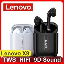Lenovo x9 verdadeiro controle de toque sem fio bluetooth fones ouvido estéreo alta fidelidade tws microfone cancelamento ruído siri à prova dsiágua