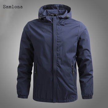Plus size 4xl 5xl Solid Color Jacket Mens Hoodies Fashion Long Sleeve Zip-up Jackets Slim Fit Autumn Winter Hooded Coats