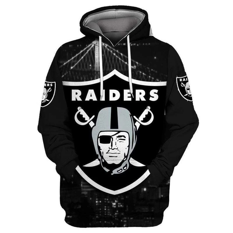 2020 Men's Fashion With Hat Raiders 3D Print Hooded Pullover Unisex Clothing American Football Hoodie