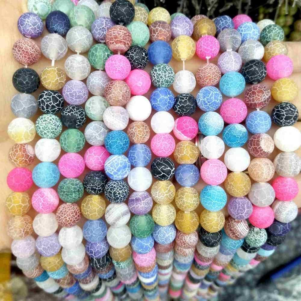 Natürliche Stein Bunte Achate Glas Runde Lose Perlen 4 6 8 10 12 MM Pick Größe Für Schmuck, Die DIY armband Halskette Material