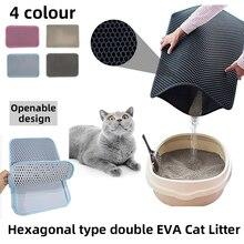Waterproof Pet Cat Litter Mat Double Layer Litter Cat Pads Trapping Pets Litter Box Mat
