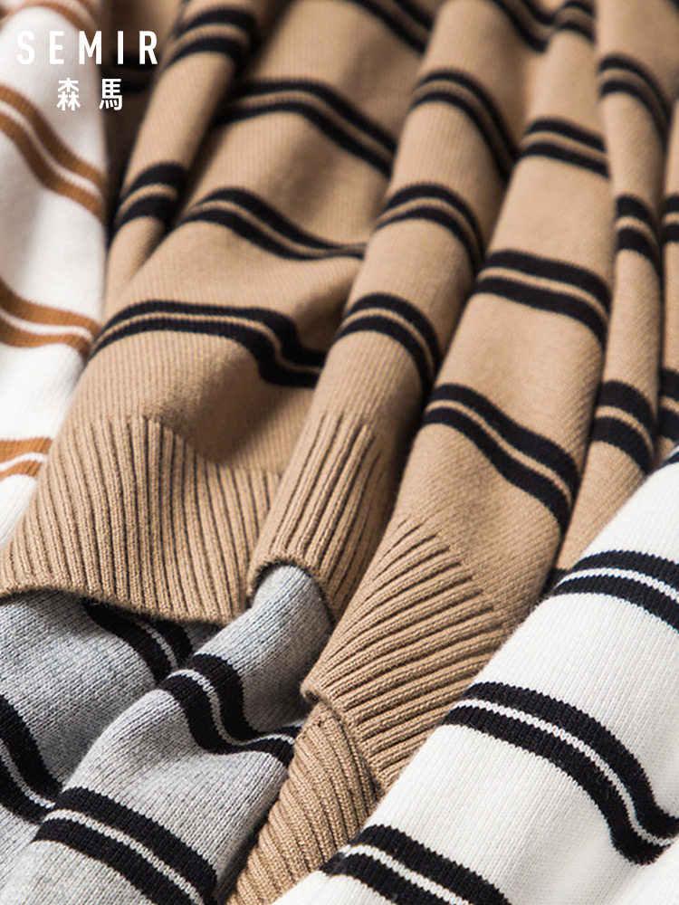 SEMIR Herren Gestrickte Kaschmir Wolle Pullover 2018 Herbst Winter Neue Pullover Männer Casual Oansatz Jumper Pullover Männer Ziehen Homme