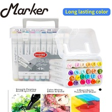 24/48/60/80/120 Color Art Markers Set Dual Headed Artist Sketch Oily Alcohol Manga Marker Professional Art Supplies For Drawing