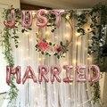От одного до четырех, 16 дюймов, только что женатые, фотообои, декор для свадебной вечеринки, товары для вечеринки