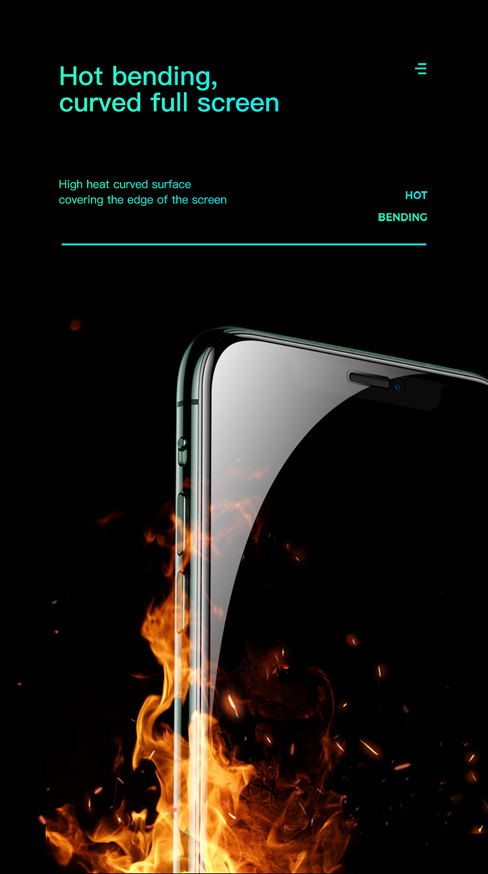 Benks XPRO 3D Curved Edge Screen protector Glass 0.3mm For iPhone 11 Pro MAX XR X XS Full Cover Protective Tempered Glass Film (6)