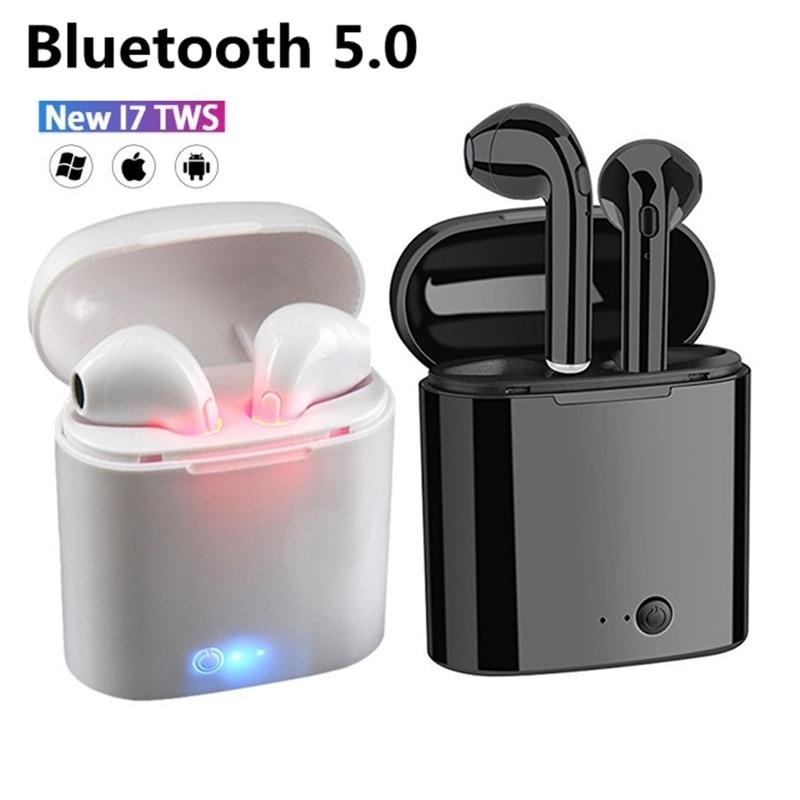 Горячая Распродажа I7s TWS Bluetooth-наушники для всех смартфонов, спортивные наушники, стереонаушники, беспроводные Bluetooth-наушники-вкладыши
