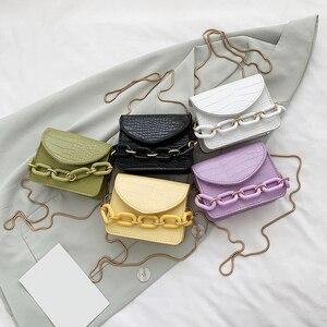Practical Crossbody Bags Women Classic Portable Creative Design Chic PU Leather Chain Mini Shoulder Handbags Pouch