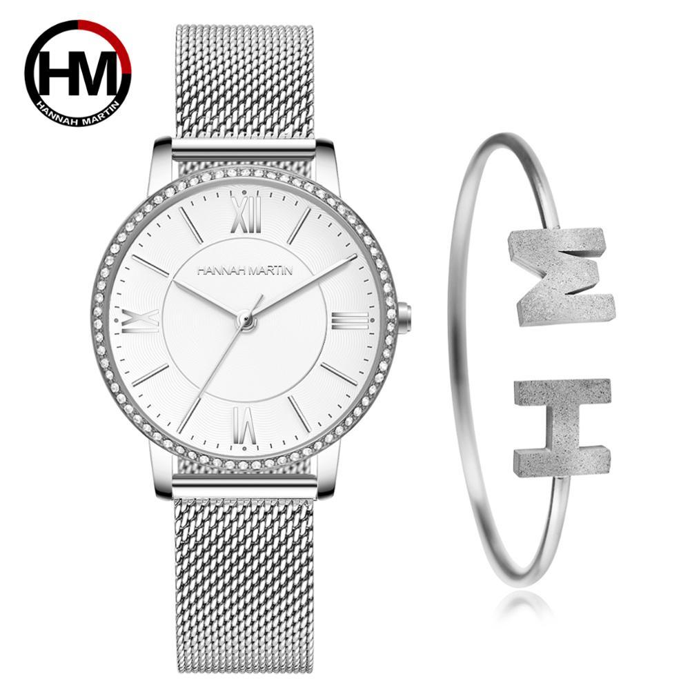 Sophistiqué élégant diamant haute qualité Ultra-mince femmes en acier inoxydable maille étanche dames femmes montre livraison directe
