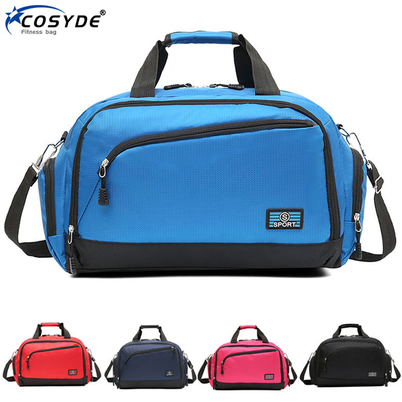 Waterproof Women Fitness Bag For Shoe Travel Yoga Handbag Men Fashion Big Sport Training Gym Bag Outdoor Sporting Tote For Male