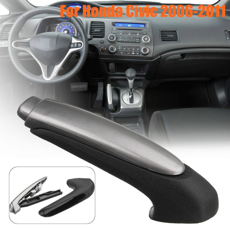 Car Handle Grip Covers Parking Hand Brake Handle Sleeve Protector Interior Accessories For Honda For Civic 2006 2007 2008 -2011