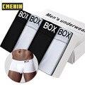 4 вещи в комплекте, хлопковая, Для мужчин, нижнее белье, сексуальное мужское нижнее белье шорты-боксеры высокое качество Для мужчин размеры s ...