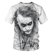 New Clown Summer Flame 3d T -Shirt Printed Short Sleeved T -Shirt Men Round Neck T -Shirt Women And Men3d Harajuku T -Shirt 5xl