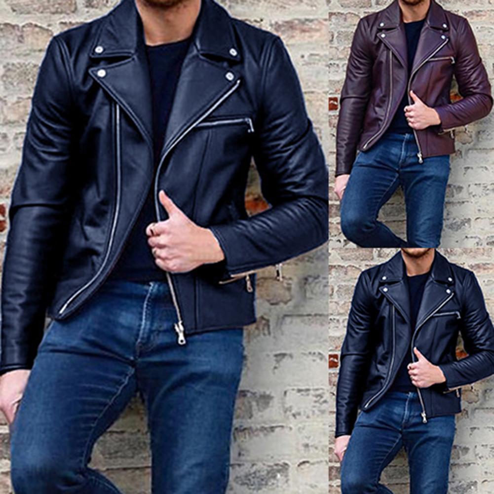 Men Coats Jackets Winter Faux Leather Mens Jackets And Coats Men Warm Hip Popping Jacket Men's Clothing