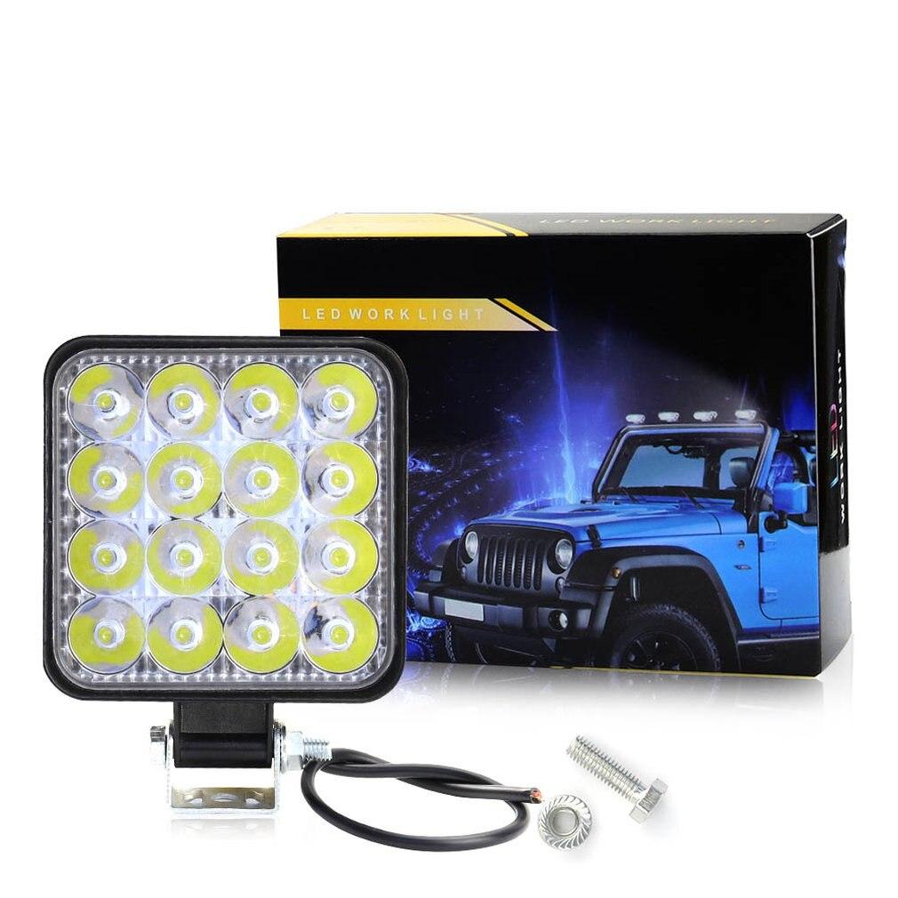 16LED Work Light Bar Plastic Shell Worklight Spotlight Lamp Off Road Vehicles LED Work Car Light For Ford fof Toyota SUV 12/24V