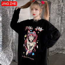 Женские футболки jing zhe с длинным рукавом пуловеры мультяшным