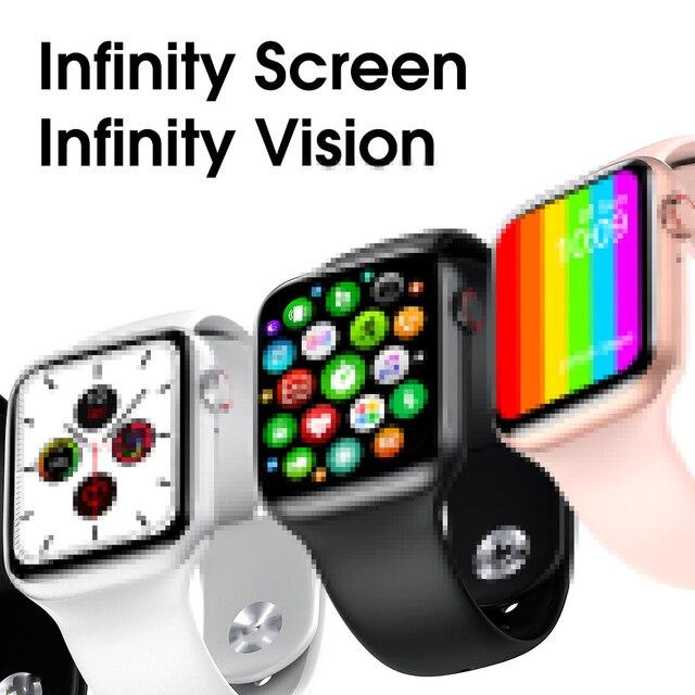 LYKRY IWO W26 inteligentny zegarek 6 ekg Monitor tętna PPG Bluetooth zadzwoń 1.75 cal w pełni dotykowy ekran temperatury Smartwatch 2020