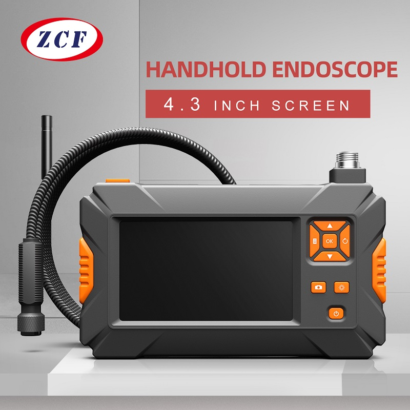 Endoscope-Camera Borescope Handhold-Screen Inspection Industrial P30 18650 Battery 8mm title=