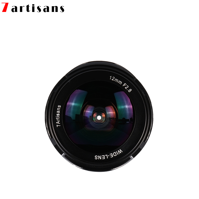 7artisans 12mm F2.8 APS-C Manual Ultra Wide Angle Lens for Canon EOS M camera Sony E Mount Fuji FX M4/3 Mount Free Shipping image