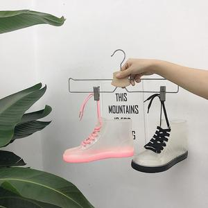 Image 4 - SWYIVY Women Rainboot 2019 New Fashion PVC Rain Boots Women Ankle Boots Transparent Shoes Woman Non slip Waterproof Sneakers