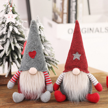 Dwarf Gnome Christmas Decorations For Home Santa Claus Doll Christmas Tree Ornament Decor Table Elf Craft Gift Xmas New Year image