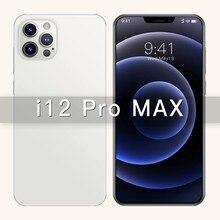 Novo 6.7 Polegada i12 pro max telefone gps snapdragon 865 câmera 48mp 12gb 512gb 5000mah android10.0 deca núcleo 4g 5g lte telefone celular inteligente