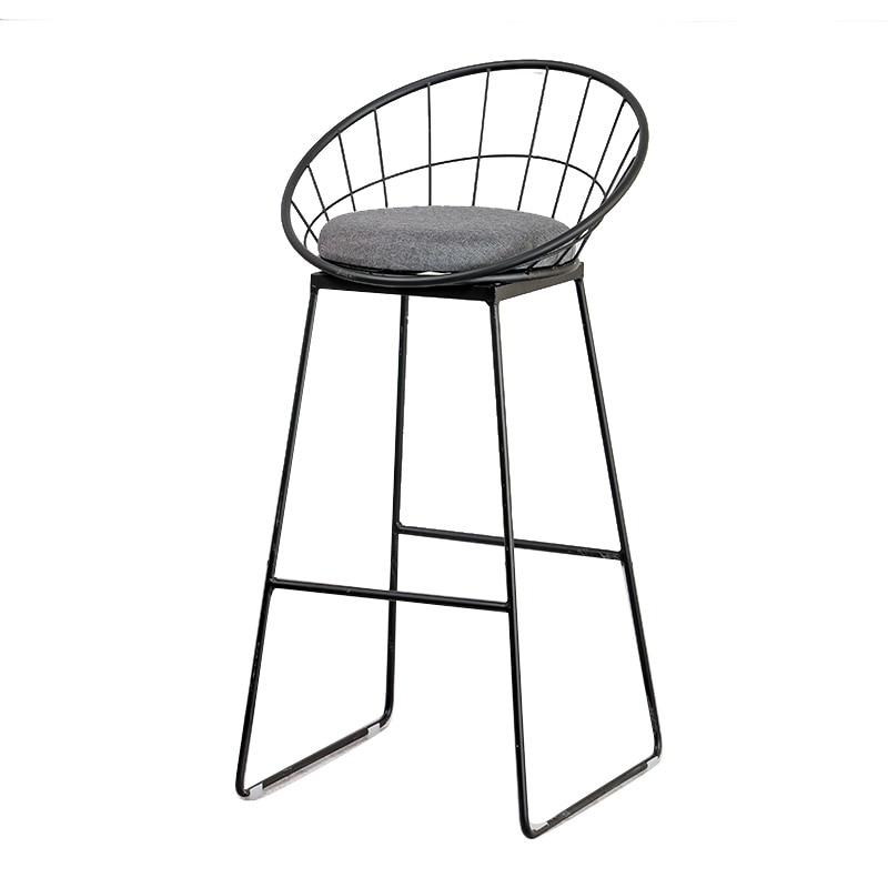 Iron Bar Stool Modern Minimalist Nordic Stool Gold High Chair Dining Chair Fashion Creative Home Bar Stool Net Red Bar Chair