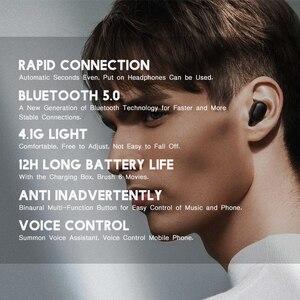 Image 2 - Orijinal Xiaomi Redmi Airdots TWS kablosuz kulaklık Bluetooth 5.0 kulaklık Mic ses kontrolü ile dokunun kontrol gürültü Reductio