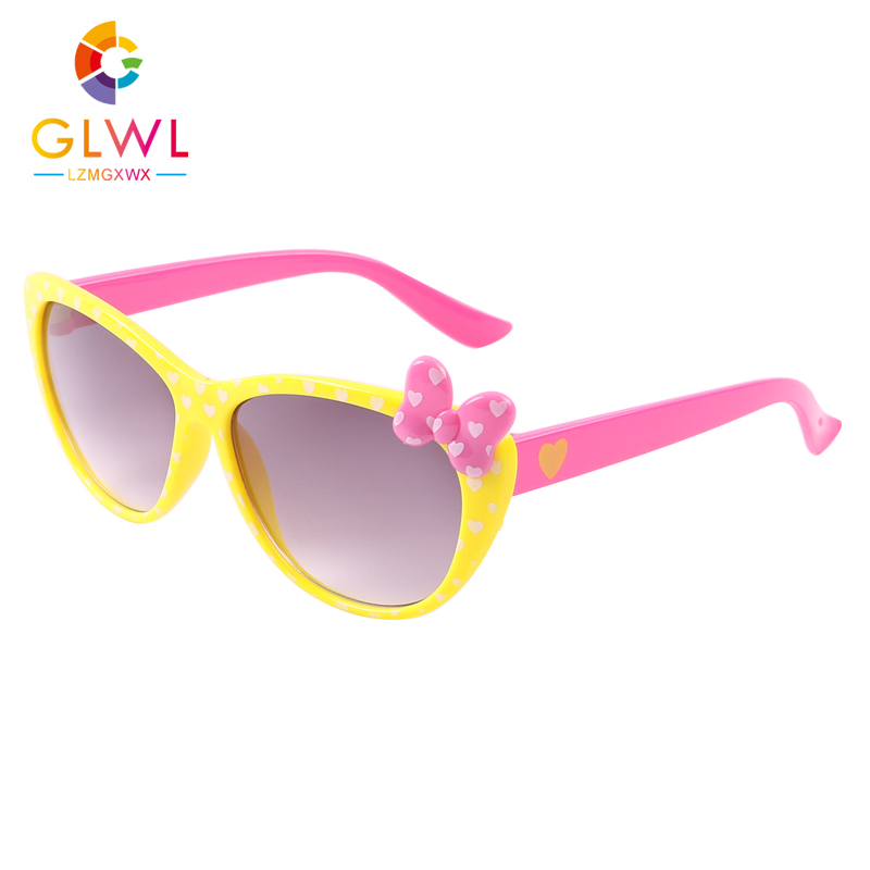 2021 Kids Sunglasses Lovely Butterfly Glasses Children Cat Eye Sunglass New Fashion Girls Eyeglasses Colorful Baby Sun Lenses